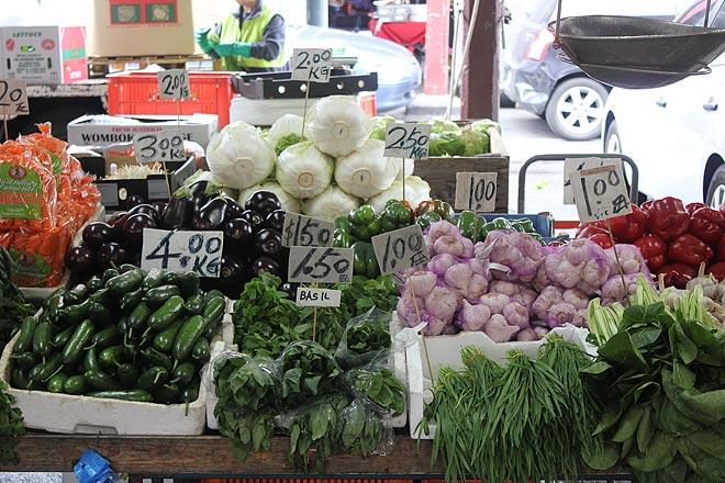 Produce weighed in kilos, Victoria Market.