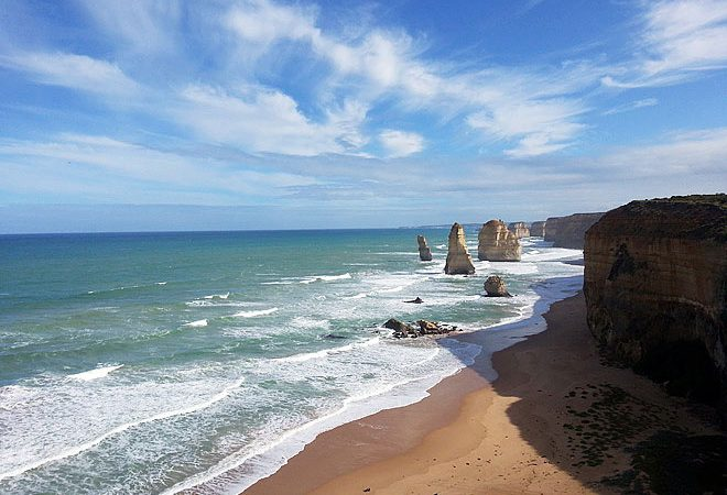 Of the Twelve Apostles, a few of them shown here.