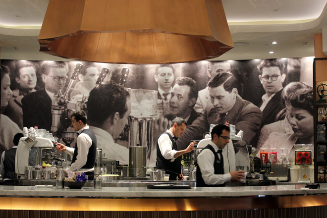 Barristers at Brunetti, Lygon Court.