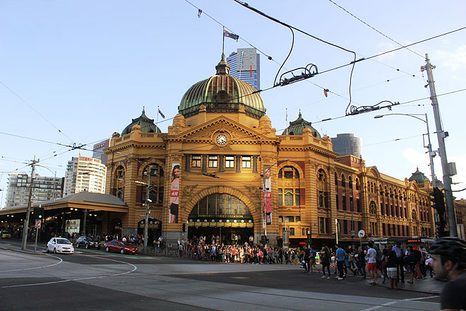 Crossroads at Flinders Street Station