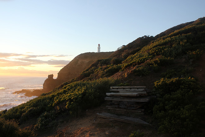 Lighthouse at the magic hour