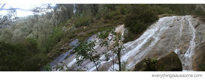 Panorama shot of Lower Eurobin Falls