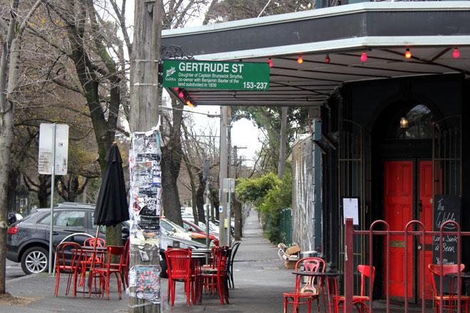 Gertrude Street Sign