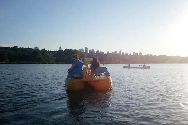 Pedal boat at Deer Lake, August 2013.