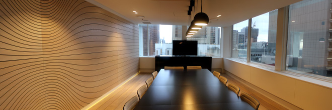 Boardroom at Slattery, Quantity Surveyors