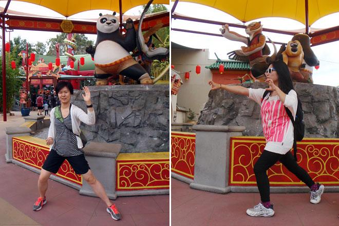 Lillian and I pose, Kung Fu style.
