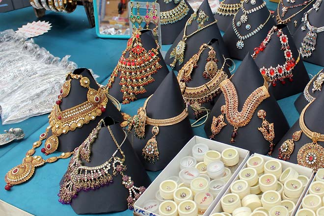 Jewellery at the market, Little India.