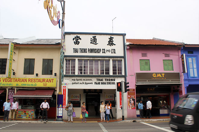 Shops in Little India.