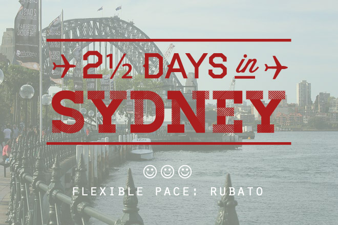 Flexible Travelling: 2.5 Days in Sydney