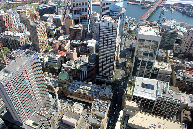View from Sydney Tower Eye.