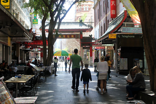 Chinatown's inside streets