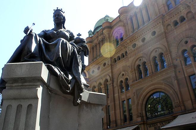 Statue of Queen Victoria, erected when Queen Elizabeth came to visit.