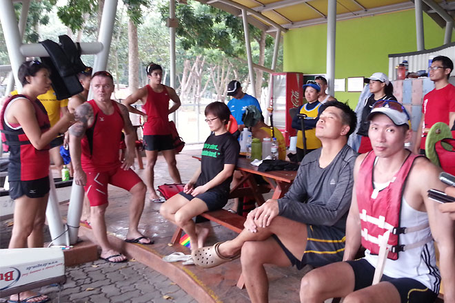 PLK Paddlers after a good practice.