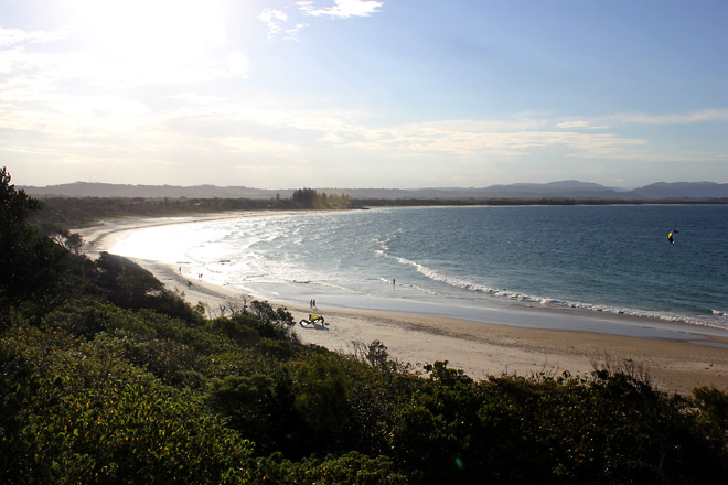 Byron Bay, the beach from afar.