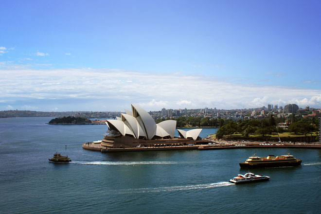 Sydney Opera House from Pylon Lookout