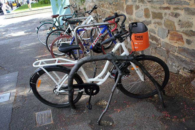 Bike on Art Rack