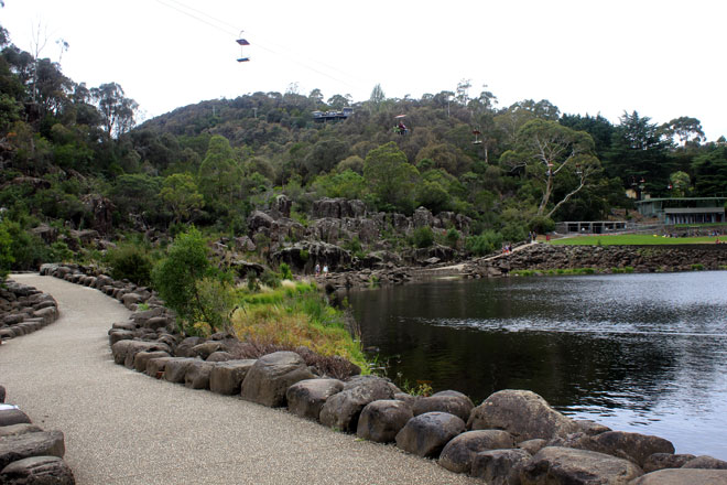 Cataract Gorge. How do I describe it, a body of water formed by dams?