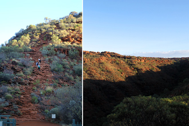 Steps to the Kings Canyon; View at the top.