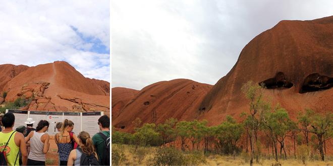 Uluru up close.