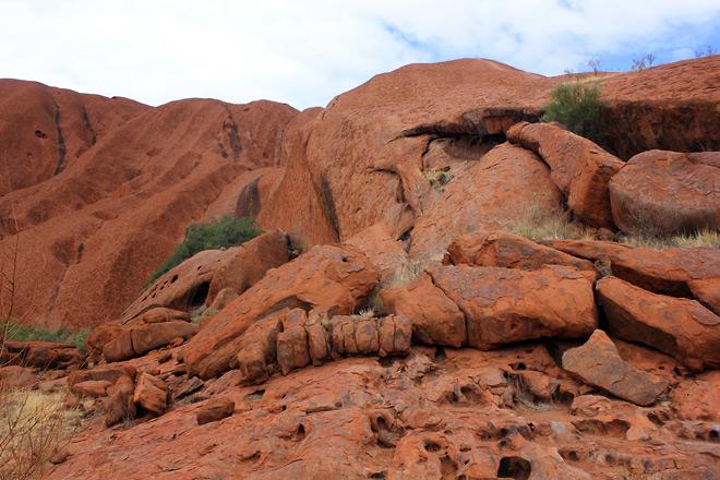 Uluru, up close.