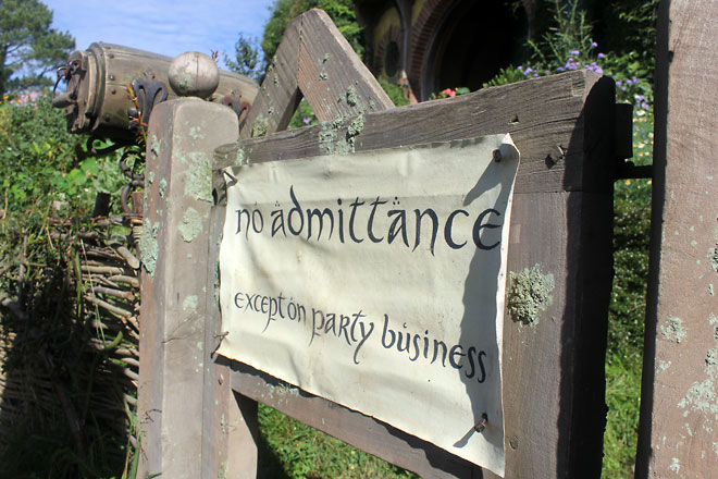 """""""No admittance except on party business"""""""