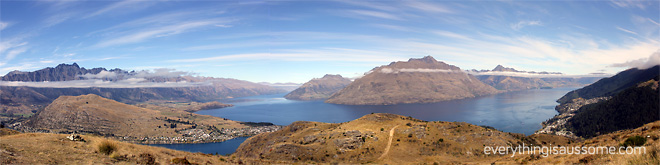 Queenstown, panoramic shot.