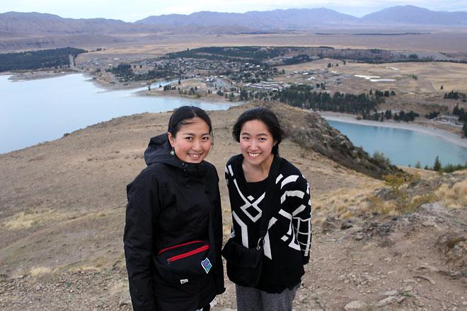 From Mount John looking down at Lake Tekapo.