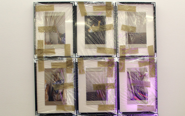 Frames wrapped and taped