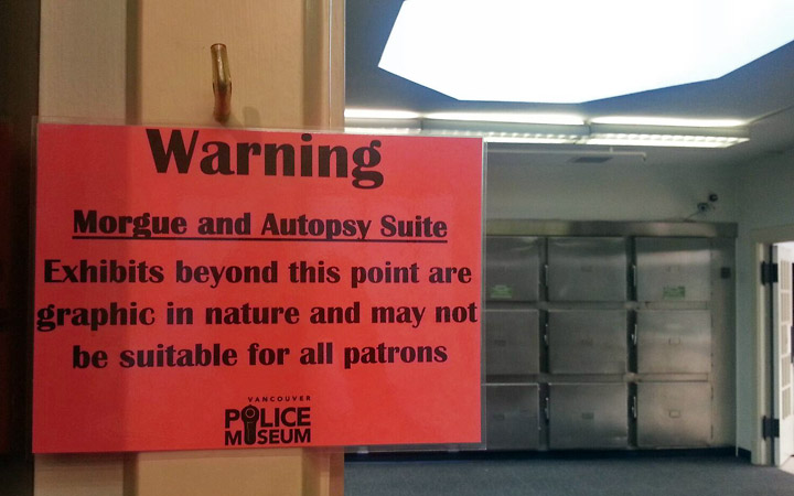 Morgue and Autopsy Suite warning sign