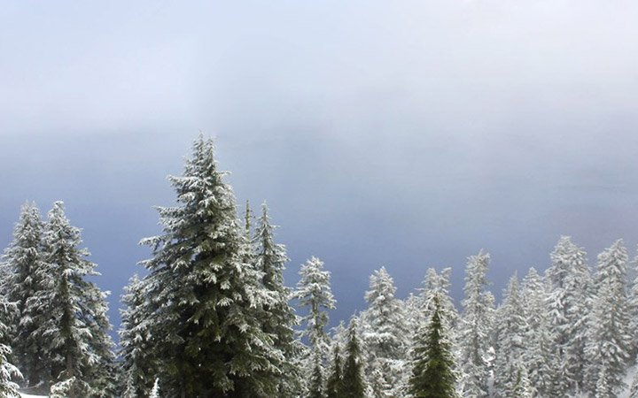 Snow in June: Crater Lake