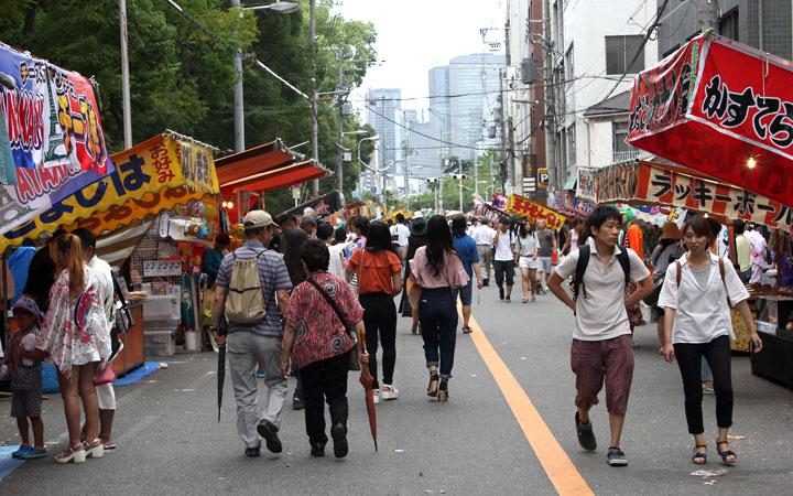 Tenjin Matsuri Festival in Osaka