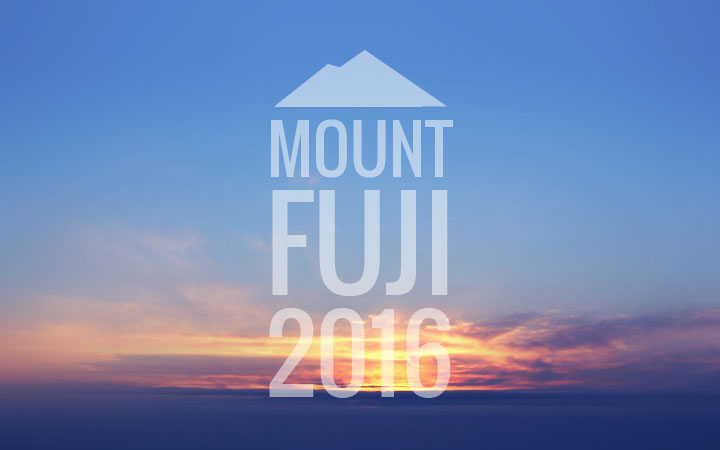 I climbed Mt Fuji, 2016