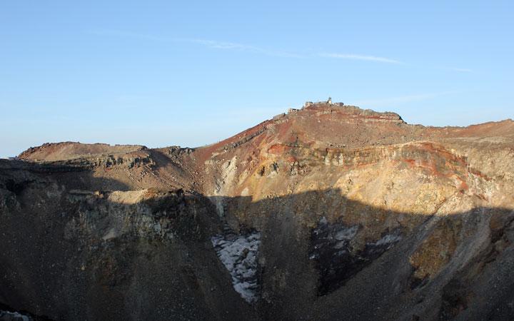 Mt Fuji crater.