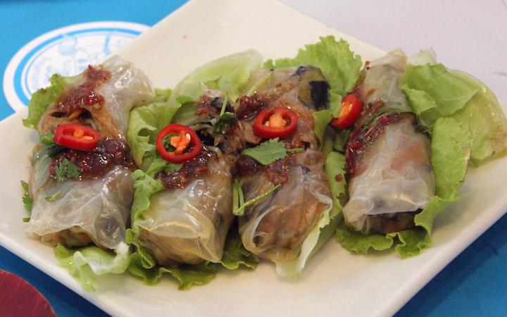 Veggie salad rolls, Taiwanese style