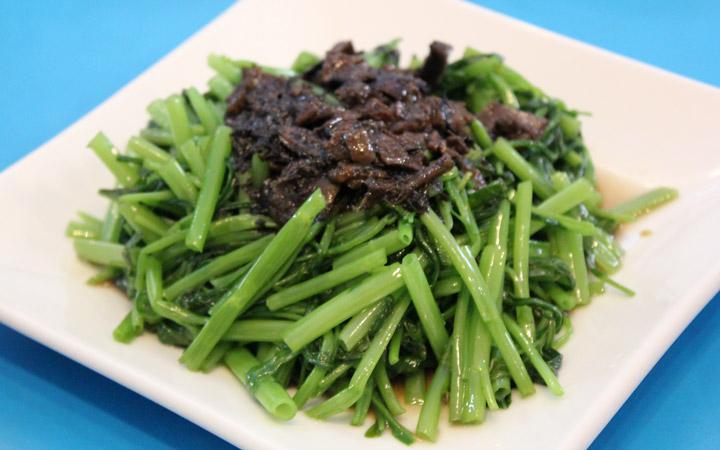 Tung choi (?), green veggies.