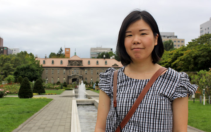 Manami in front of the Former Court of Appeals.