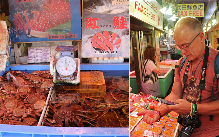 Sankaku Market in Otaru