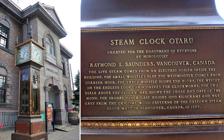 Steam clock in front of the museum